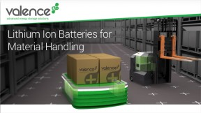 Lithium Ion Batteries for Material Handling by Valence Technology