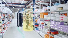 Mobile picking robots for online retailers by Magazino